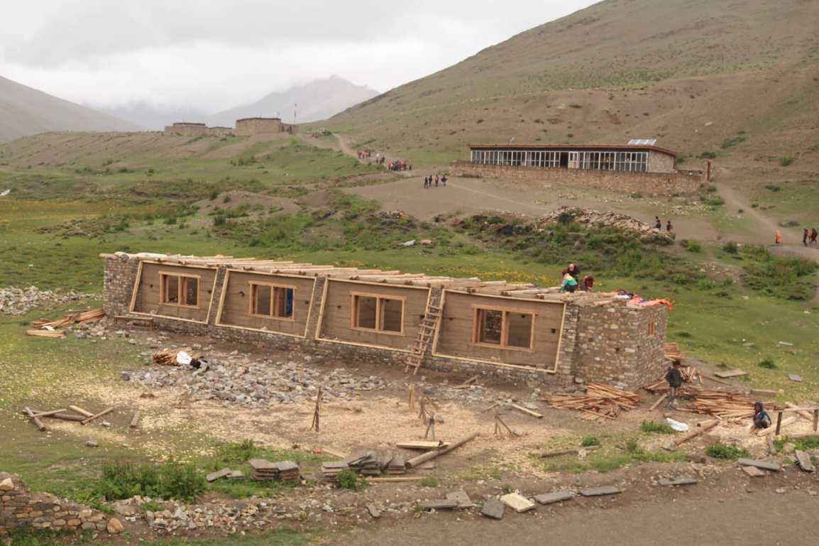 New Passive Solar building construction inCMS
